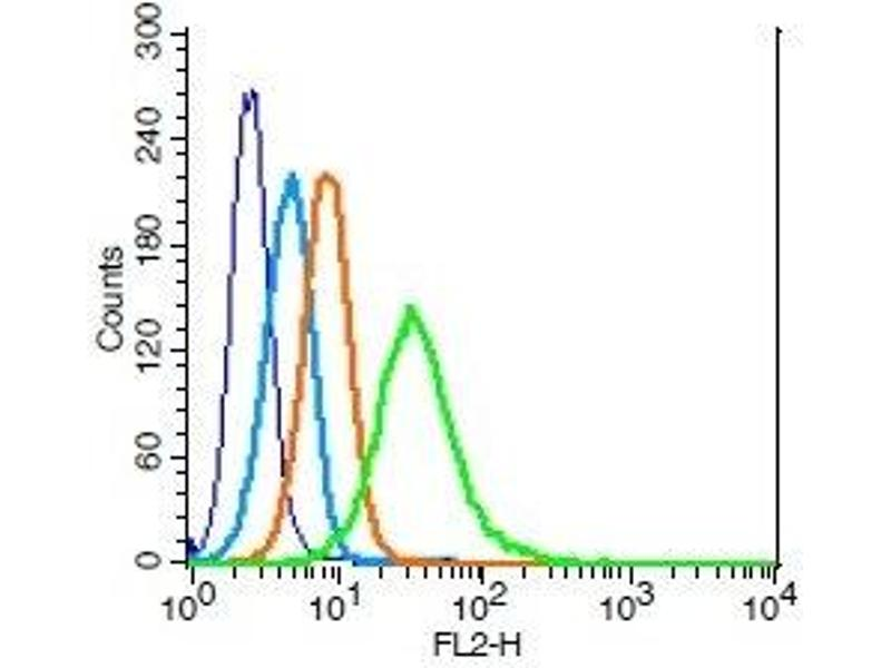 Flow Cytometry (FACS) image for anti-IL2RG antibody (Interleukin 2 Receptor, gamma) (AA 135-185) (ABIN2176981)