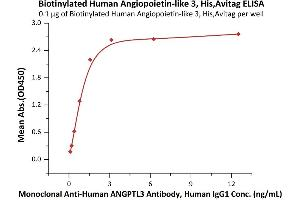 Image no. 1 for Angiopoietin-Like 3 (ANGPTL3) (AA 17-220) (Active) protein (His tag,AVI tag,Biotin) (ABIN6972943)